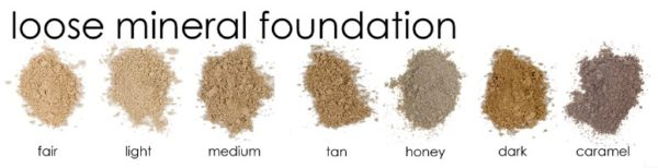 loose mineral makeup for spa