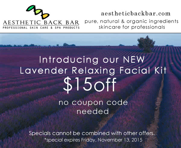 lavender facial treatment kit